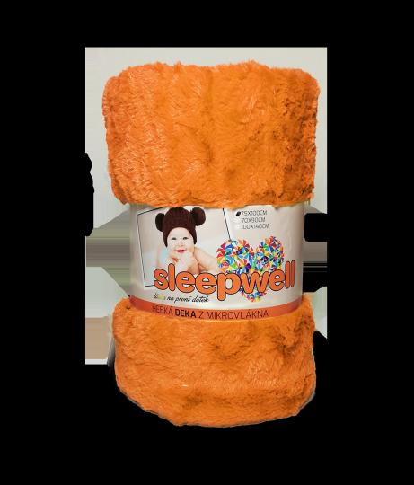 Dětská deka SLEEP WELL různé druhy 75x100 s ovečkou/žakár oranžová