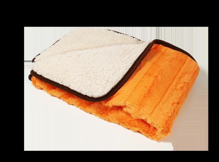 Dětská deka SLEEP WELL různé druhy 140/100 s ovečkou/žakár oranžová