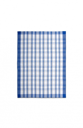 Utěrka egyptská bavlna MIX - 50x70 káro barevné tmavě modrá