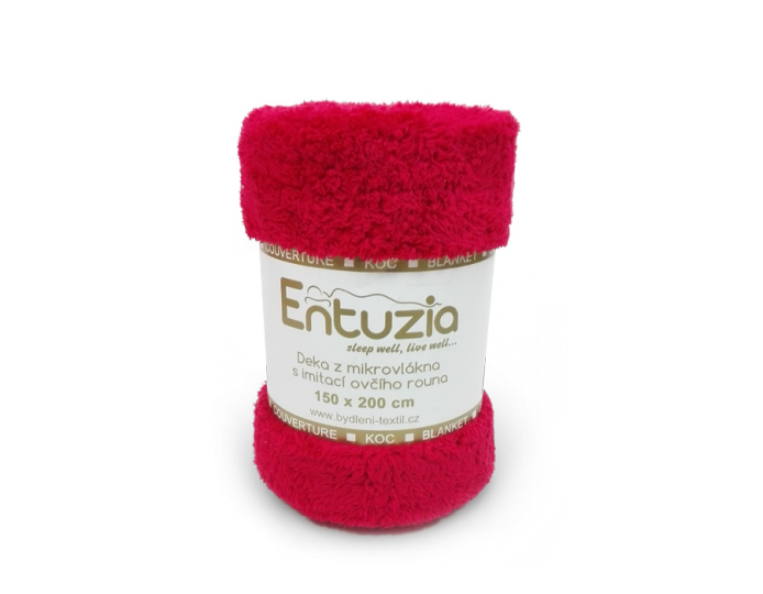 A Deka ENTUZIA BERÁNEK chlup/chlup 150x200 červená