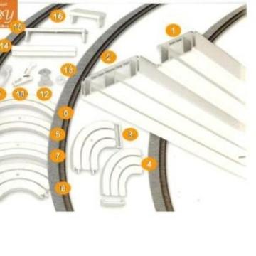 Plastové kolejnice 2-kolejné PVC č.13 / krytka vrutu bílá