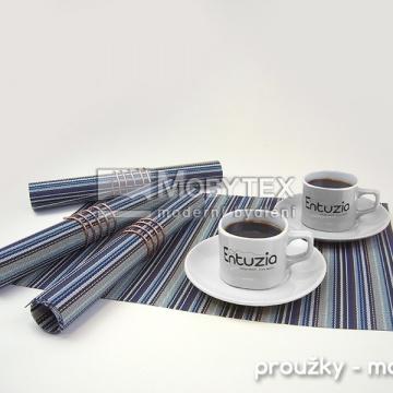 Kuchyňské prostírání PP vzor modrá proužky