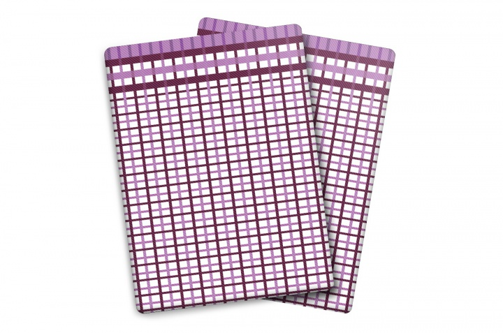 Utěrka Bambus - M - malá kostka fialová