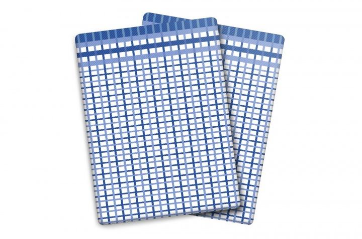 Utěrka Bambus M - malá kostka modrá
