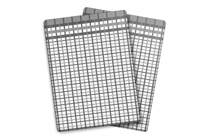 Utěrka Bambus - M - malá kostka šedá