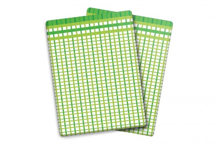 Utěrka Bambus - M - malá kostka zelená