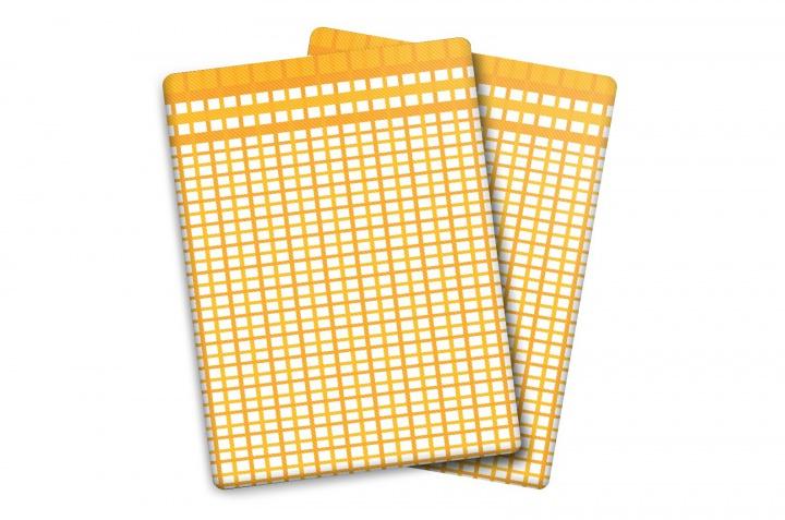 Utěrka Bambus M - malá kostka žlutá