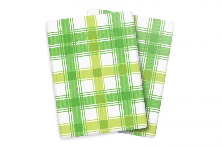 Utěrka Bambus V - velká kostka Zelená/dvojitý pruh