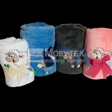 Dětská deka mikroflanel s výšivkou
