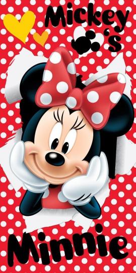 Osuška Minnie red 02