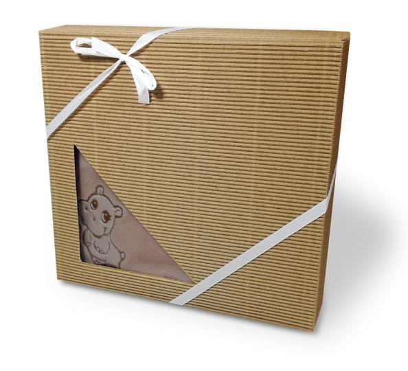 Dětská deka mikroflanel dárková krabička 75/100 Oříšek
