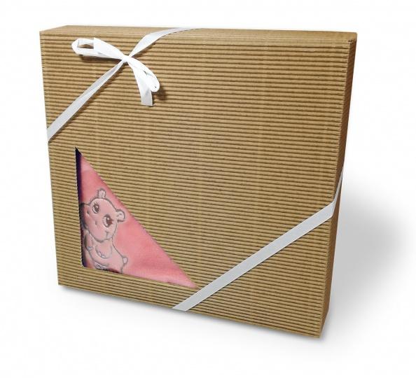 Dětská deka mikroflanel dárková krabička 75/100 Růžová