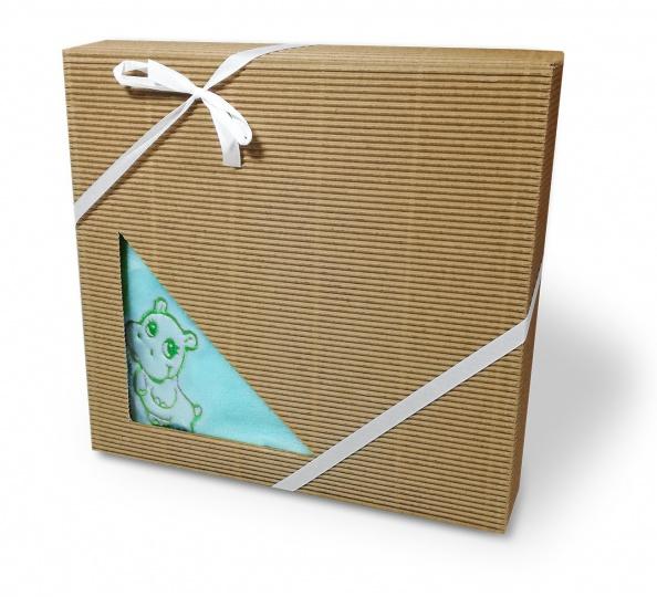 Dětská deka mikroflanel dárková krabička 75/100 Tyrkysová