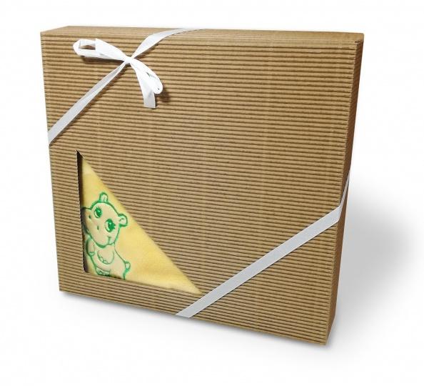 Dětská deka mikroflanel dárková krabička 75/100 Žlutá