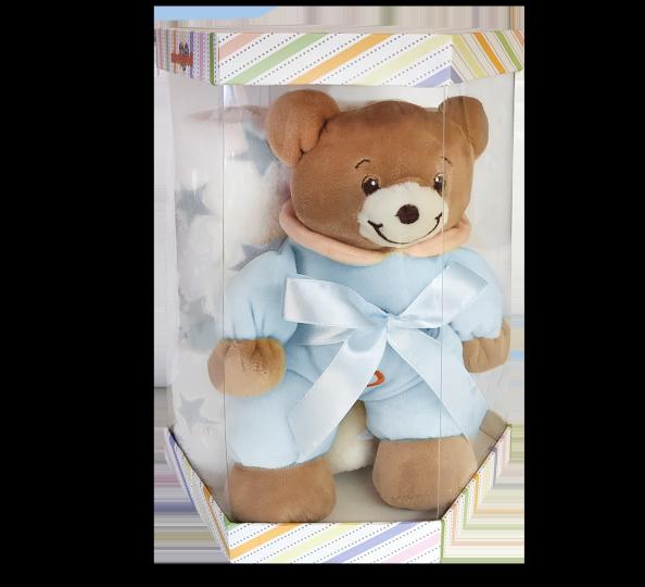 Dárková sada z mikrovlákna šestihran Modrý medvídek