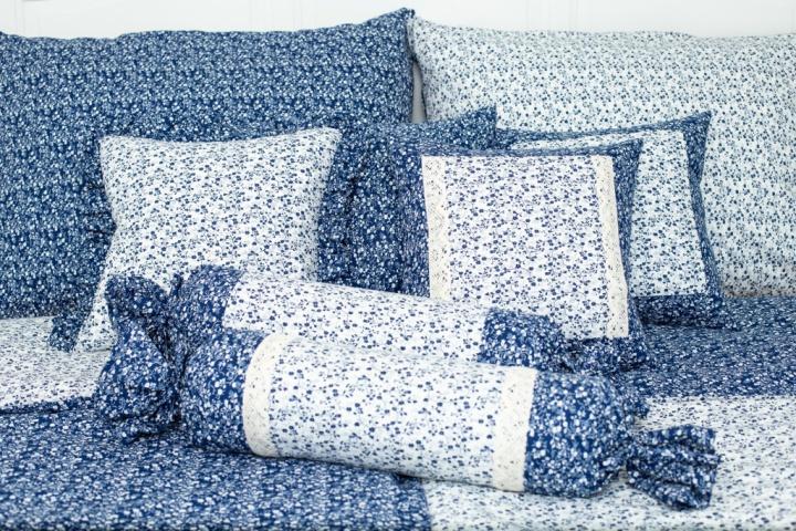 Letní deka PZ Větvičky Modro-bílé