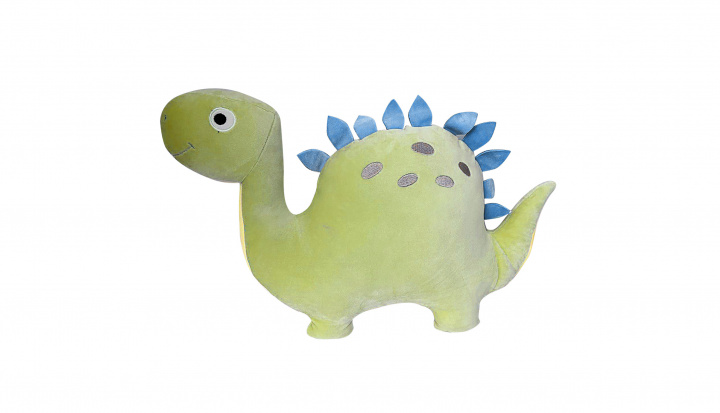 Plyšák/polštářek mikrospandex Dino 40cm zelený
