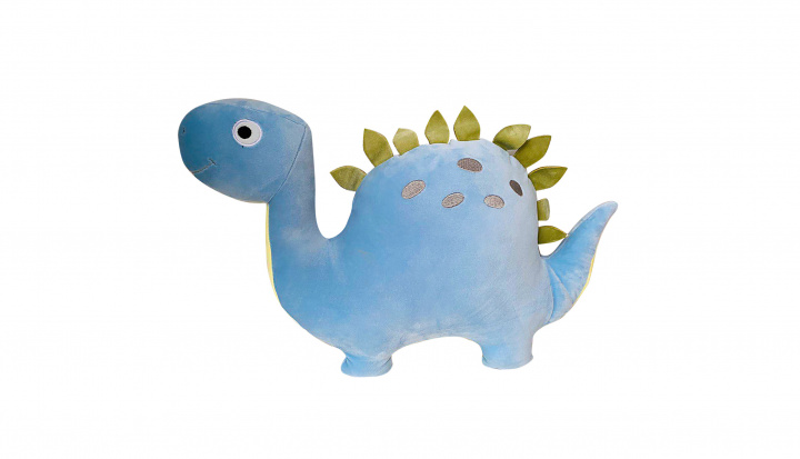 Plyšák/polštářek mikrospandex Dino 40cm modrý