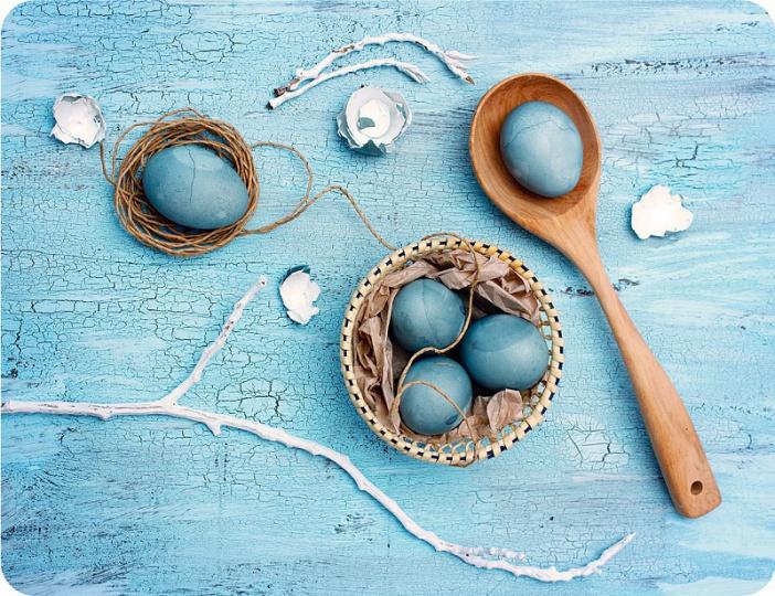Prostírání Matějovský Velikonoce - tyrkysové