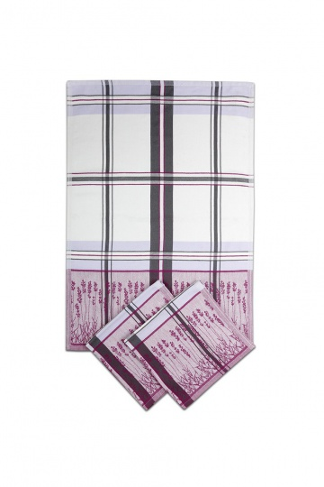 Utěrka Egyptská bavlna Levandule - levandule/ fialovo-šedá