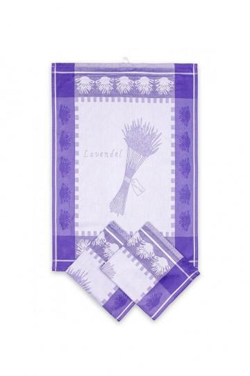 Utěrka Egyptská bavlna Levandule - levandule/fialovo-šedá snop
